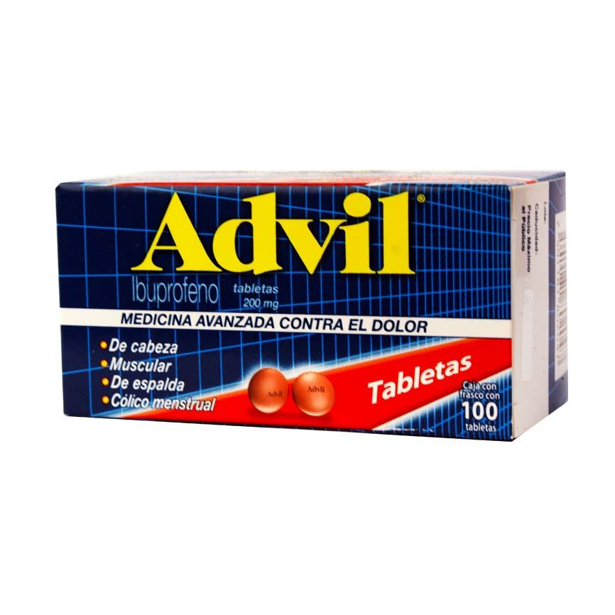 ADVIL 200 MG PFIZER PZ 100 GRS