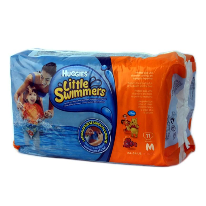 PAÑAL LITTLE SWIMMERS MEDIANO HUGGIES PAQ 11 PZ