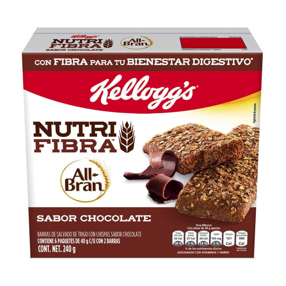 BARRA SALUDABLE CHOCOLATE ALL BRAN PZ 240 g