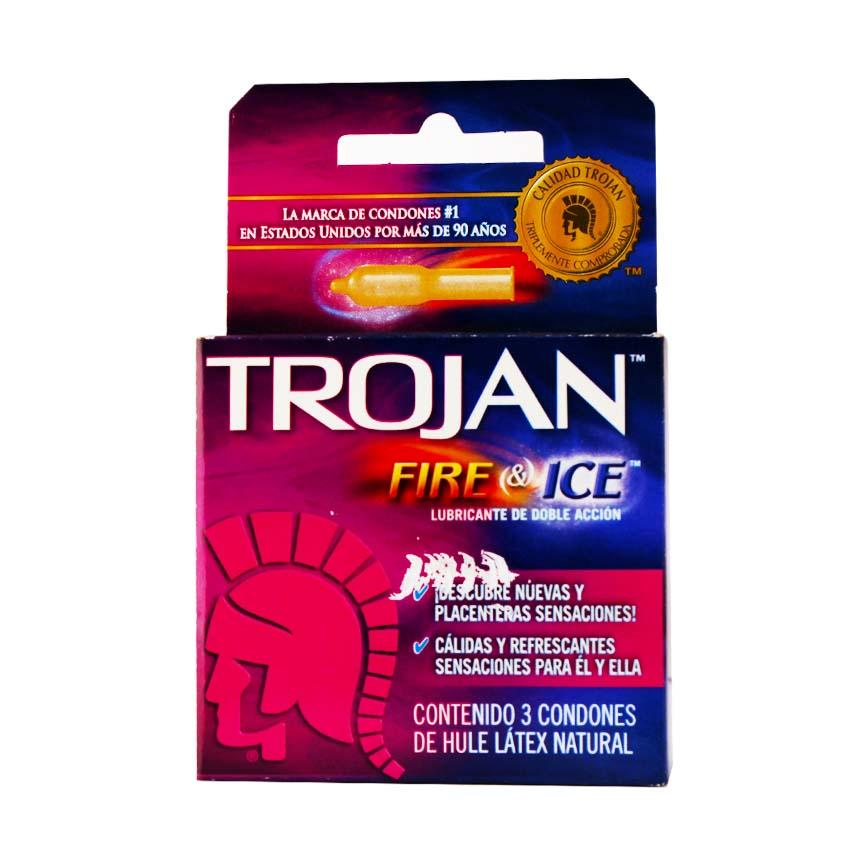 PRESERVATIVO TROJAN FIRE ICE CHURCH & DWIGHT 3 PZ