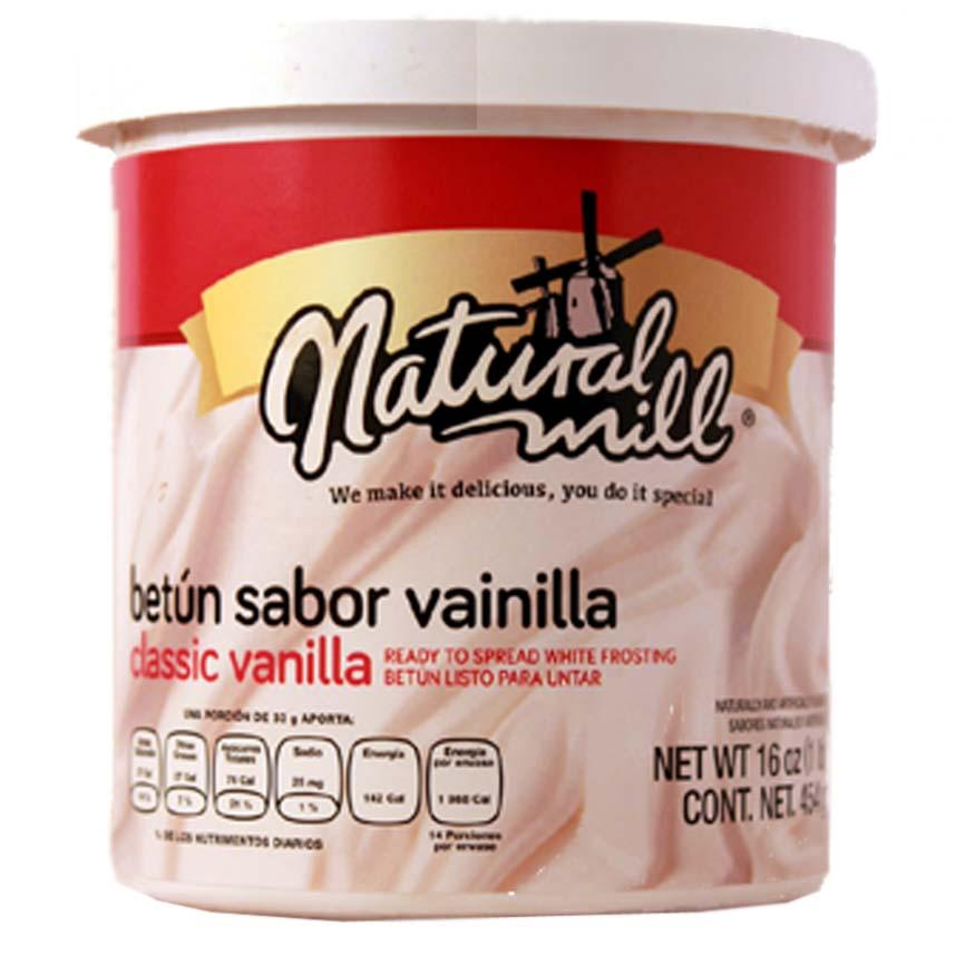 BETUN VAINILLA NATURAL MILL TARRO 454 g