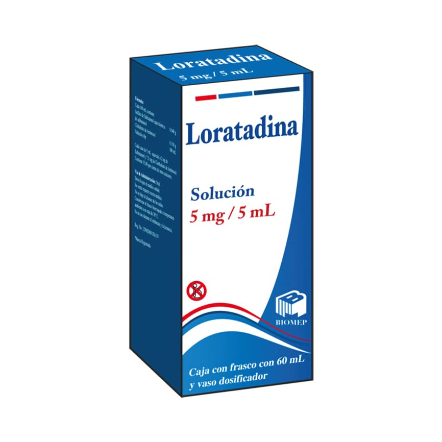 LORATADINA 15 MG/ML SUSP BIOMEP FCO 60 ml