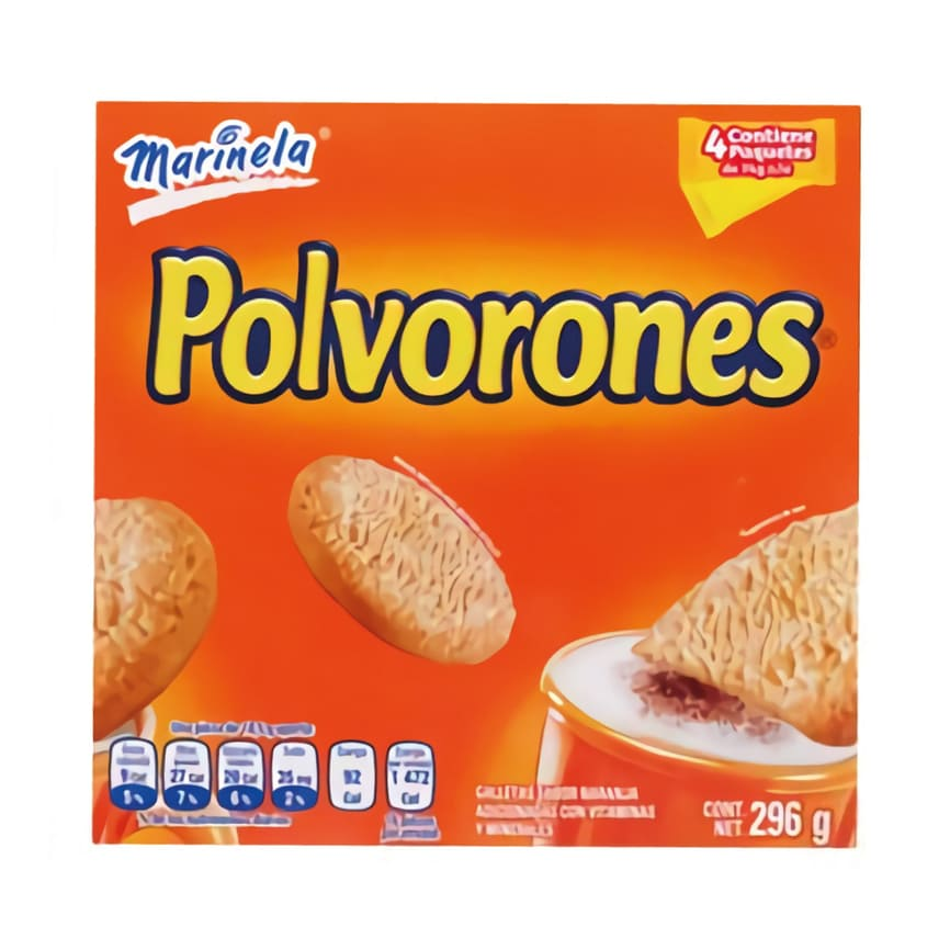 GALLETAS POLVORONES MARINELA PZ 296 g