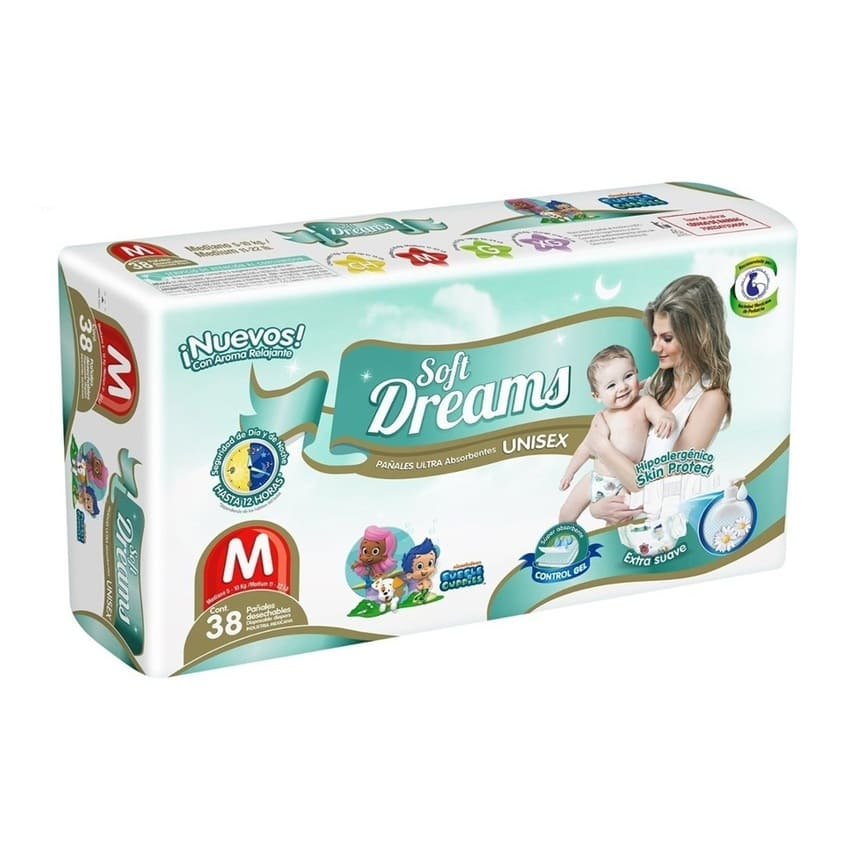 PAÑAL MEDIANO SOFT DREAMS PAQ 38 PZ