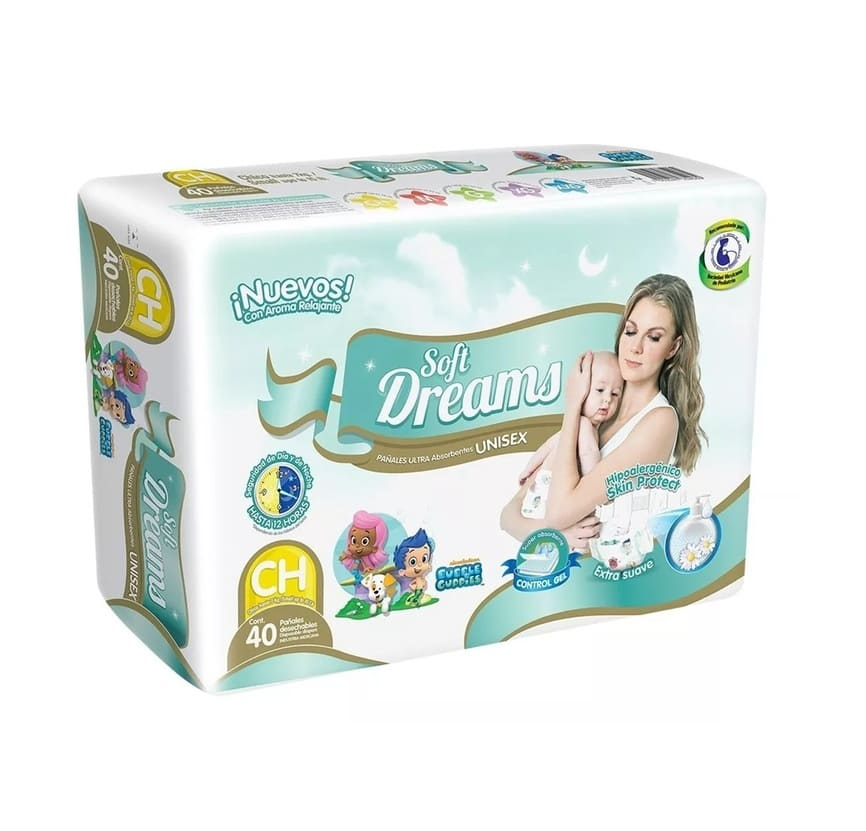 PAÑAL CHICO SOFT DREAMS PAQ 40 PZ