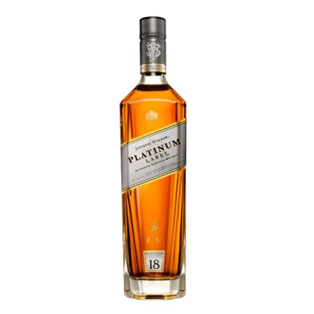 WHISKY JOHNNIE WALKER 18 AÑOS PLATINUM BOTELLA 1 L